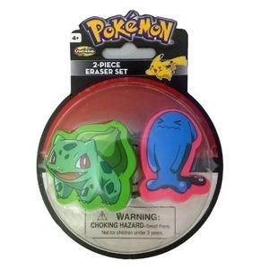 Pokemon 2 Piece Eraser Set - Bulbasaur And Wobbuff